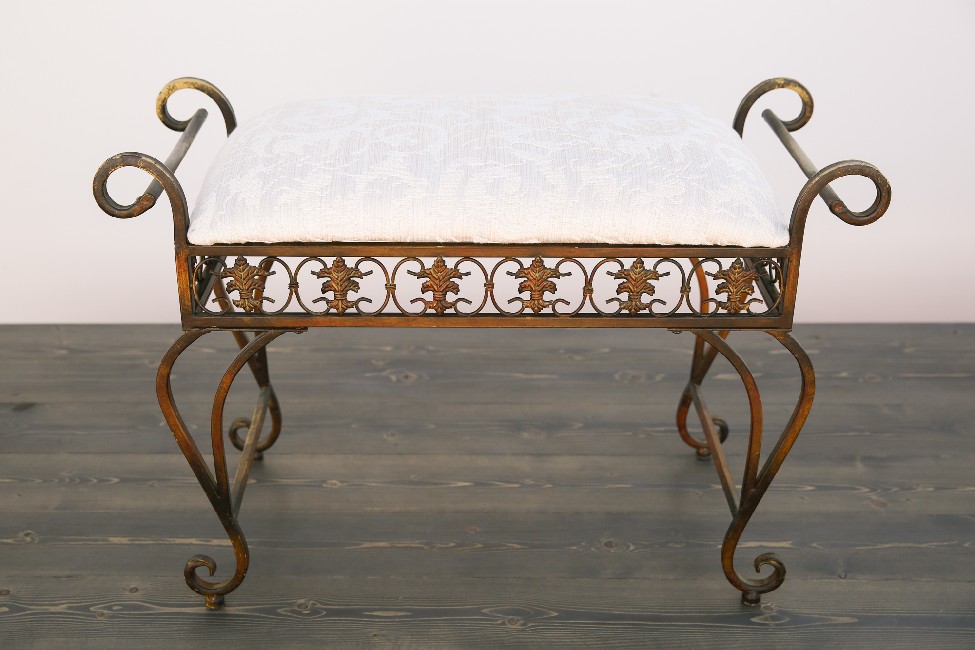 Outstanding Curved Vintage Metal Bench Seat Pdpeps Interior Chair Design Pdpepsorg
