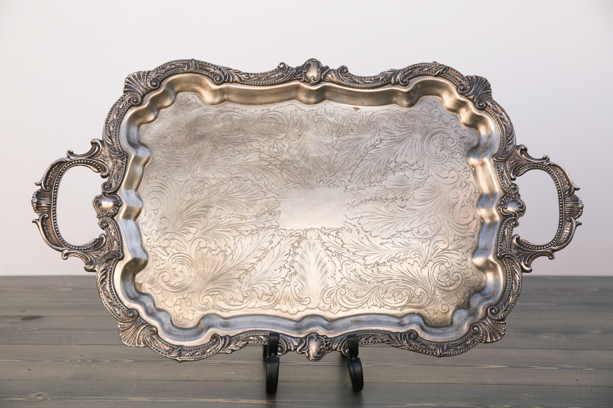 Large Mirror Serving Tray