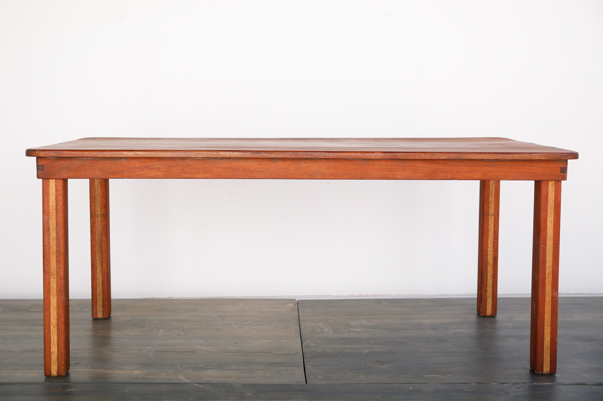 6 X3 Rose Wood Table With Wood Legs Out Of The Dust Rentals